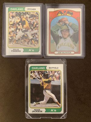 A's baseball cards for Sale in Hayward, CA