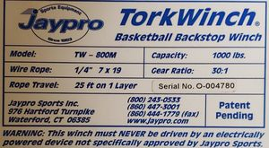 Jaypro manual basketball hoop wench pair for Sale in Lemon Grove, CA