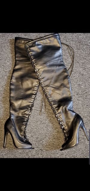 Over the knee heels size 6 womens for Sale in Lynn, MA
