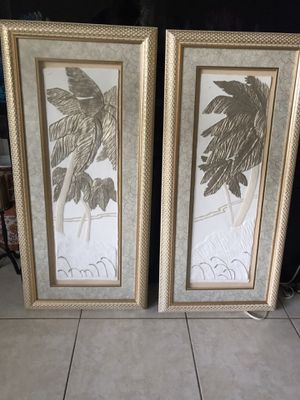Two palm trees pictures for Sale in Fort Lauderdale, FL