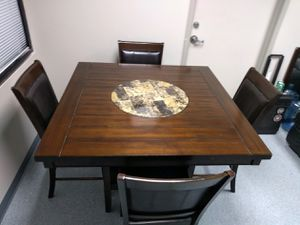 Solid Wood Table and Chairs for Sale in Houston, TX