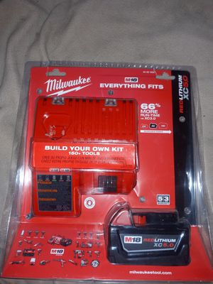Milwaukee m18 XC5.0 Battery and charger kit for Sale in Sacramento, CA