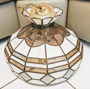 """Hanging Crystal Lamp with Gold and Pearlescent Accents (12"""" x 18"""") for Sale in Princeton, FL"""