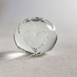 Steuben Etched Glass Heart Paperweight (1027206) for Sale in South San Francisco, CA