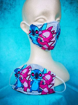 Kids Face mask (Stich & angel): Hand made mask, reversible, reusable, washer and dryer safe. #girls clothes #MAC Makeup #halloween for Sale in Long Beach, CA