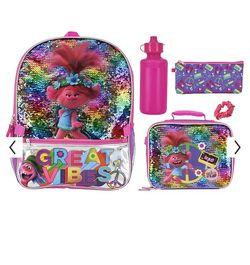 Trolls 5-piece Backpack & Lunch Bag Set for Sale in Las Vegas,  NV