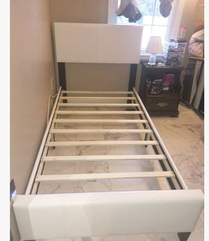 Brand New Twin Size Leather Platform Bed Frame for Sale in Silver Spring, MD