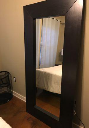 Large black wood frame mirror for Sale in Nashville, TN