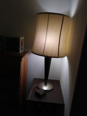 Wood and brass lamp with shade for Sale in Boca Raton, FL