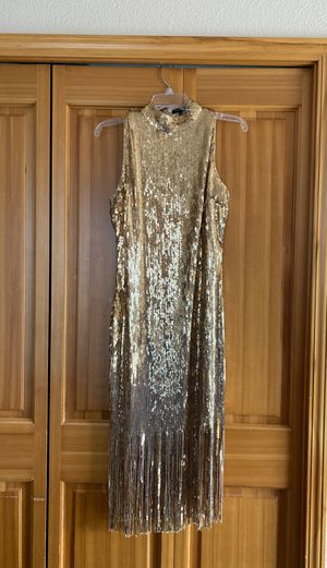 Fashion Nova fringe GOLD dress for Sale in Tacoma, WA
