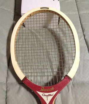 Vintage Bancroft Tennis Racket with Original Vinyl Cover for Sale in Brecksville, OH