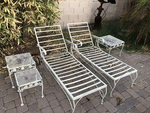 Vintage retro patio/lawn furniture set of 6 for Sale in Scottsdale, AZ