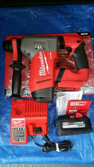 $400 Milwaukee M18 FUEL 18-Volt Lithium-Ion Brushless Cordless 1-1/8 in. SDS-Plus Rotary Hammer. with 6.0ah high output battery and charger for Sale in Evergreen, CO