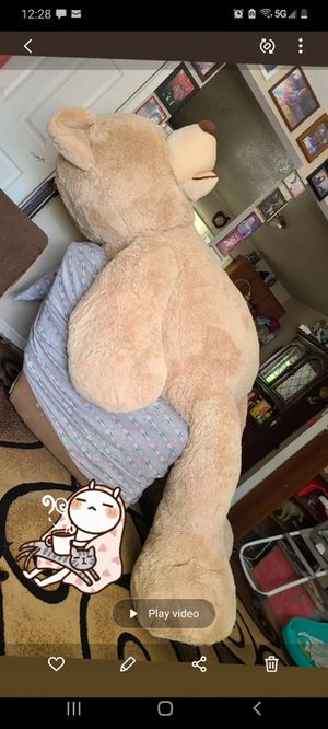 93in plush teddy bear for Sale in Sacramento, CA