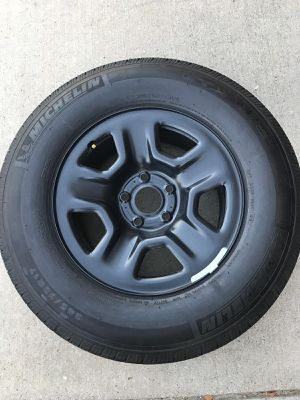 Brand new JL Jeep Wrangler spare wheel with tire. for Sale in McKinney, TX