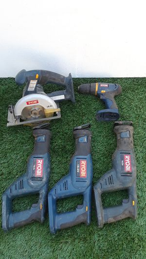 Ryobi 18-volt skill saw and three sawzalls. And 1 drill 7.2 volt for Sale in Glendale, AZ