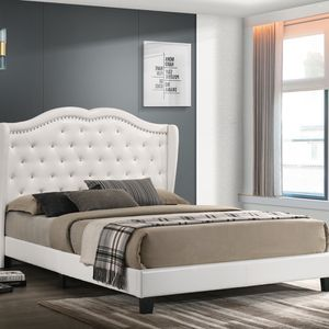 New White King Size Platform Bed Frames for Sale in Houston, TX