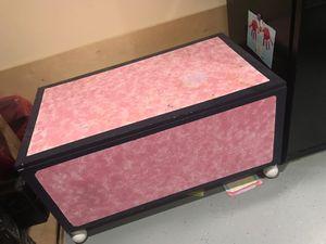 Solid wood Treasure box 48x28 hand print $50 for Sale in Ashburn, VA