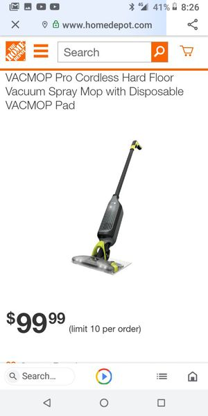shark rechargable vacuum and spray mop combo for Sale in Yuba City, CA
