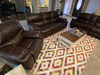 3 Piece Brown Recliner Set for Sale in Houston,  TX
