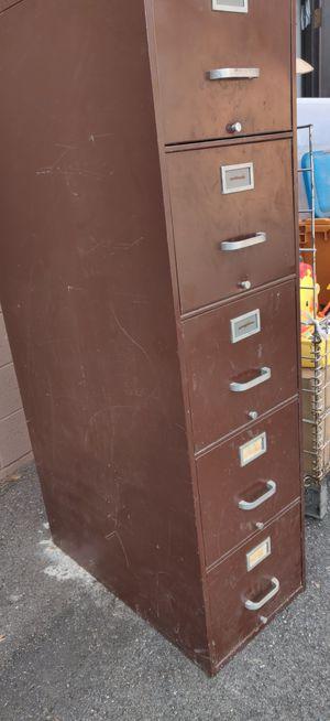 Filing cabinet, 5 drawer letter size, no lock for Sale in West Jordan, UT