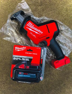 New Milwaukee M18 FUEL Hackzall & High Output 8.0 Battery for Sale in Modesto, CA