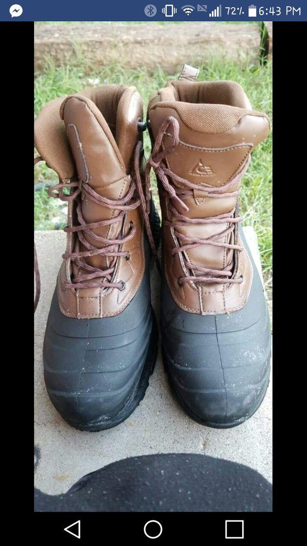 New steel toe waterproof boots