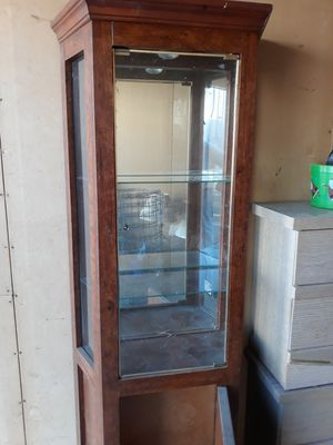 Laminate apt. Size china cabinet for Sale in Willows, CA