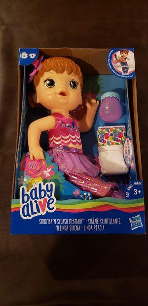 Baby alive doll shimmer n splash mermaid for Sale in Stone Ridge, VA