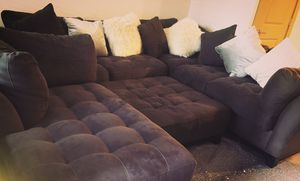 Sectional Couch and Ottoman for Sale in Palm Harbor, FL
