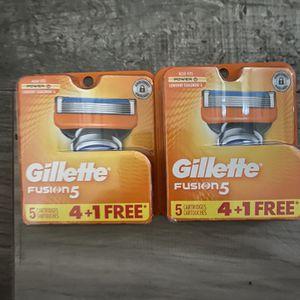 Gillette fusion 5 razor cartridges $10 each pack for Sale in San Bernardino, CA