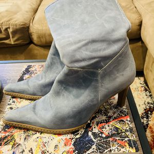 Size 7 Blue Boots (heels) for Sale in Seattle, WA