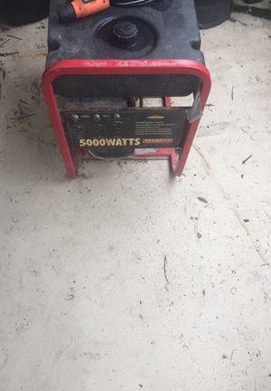 Briggs & Stratton 5000 watts generator 10 hp runs great $250 for Sale in Tampa, FL