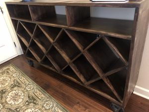 Very large wine console table with wheels for Sale in Jacksonville, AR