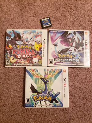Pokemon Nintendo 3DS Games (4) for Sale in Canonsburg, PA