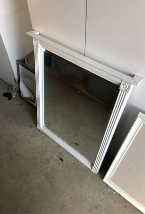 White pottery barn medium size mirror for Sale in Tracy, CA