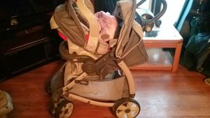 Stroller and carseat with two bases and camo car seat cover for Sale in Little Falls, NY