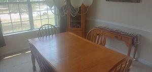Dining/Entertainment set- Honey Oak for Sale in Suffolk, VA