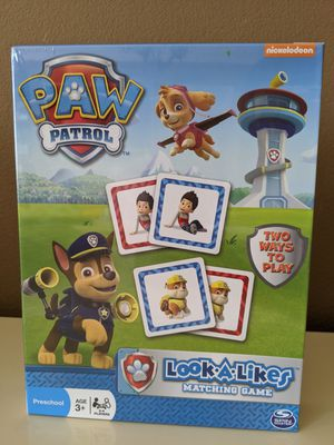 Paw Patrol matching game - kids toys - paw patrol toys - educational toys - brand new for Sale in San Diego, CA