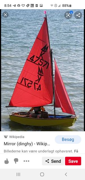 Mirror Dinghy Sailboat with Trailer for Sale in Brunswick, OH