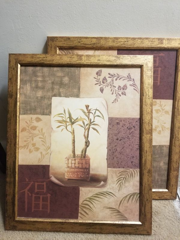 Two Lucky Bamboo Paints From Home Interiors