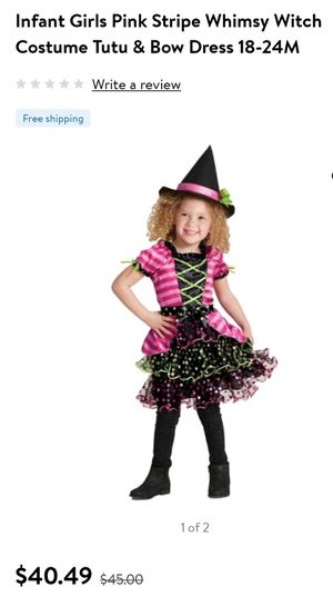 Toddler Witch Costume 18/24 Months for Sale in Lawrenceville, GA