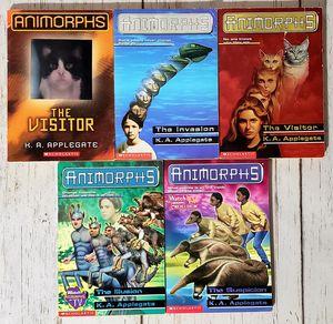 ANIMORPHS Lot of 5 Books by K.A. Applegate The Visitors #1, 2, 24, 33 Scholastic for Sale in Harrisonburg, VA
