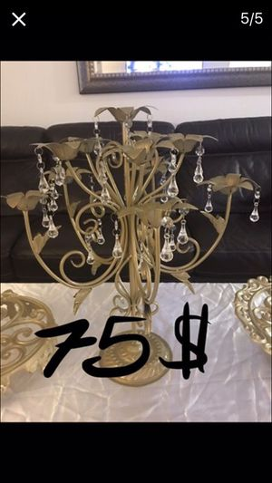 Metal gold stands for Sale in Los Angeles, CA