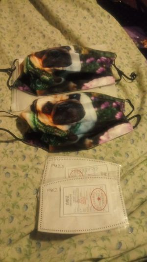 NEW 2 PUG FACE MASK for Sale in Arvonia, VA