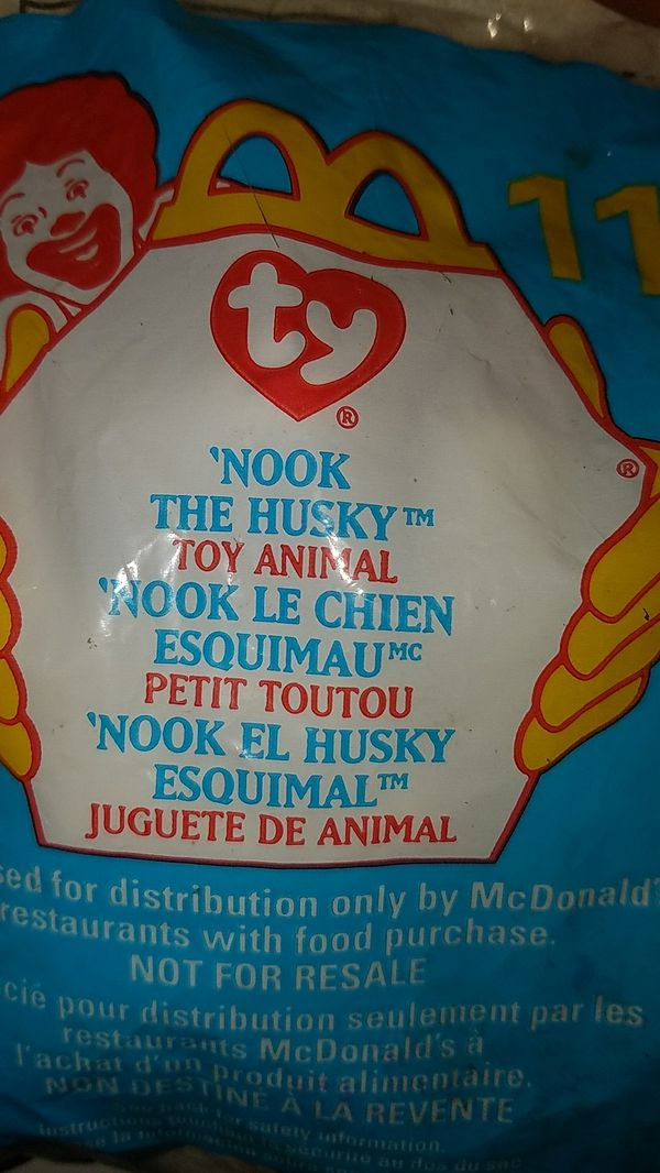 """Nook"" the husky beanie baby"