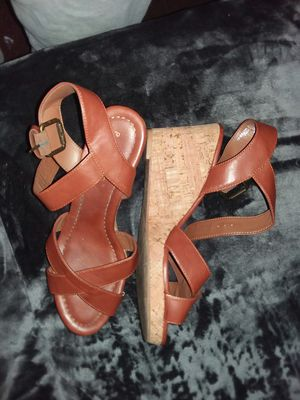 High heel shoes. ROrangish Red in color. Never worn. From Belk's. SIZE 10 WOMEN'S for Sale in Murfreesboro, TN