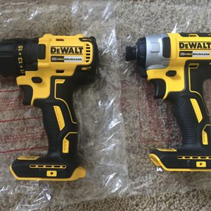 Brand new Dewalt 20V brushless impact driver and drill- tool only for Sale in West Valley City, UT
