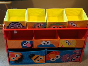 Sesame Street toddler room toy holder for Sale in Virginia Beach, VA