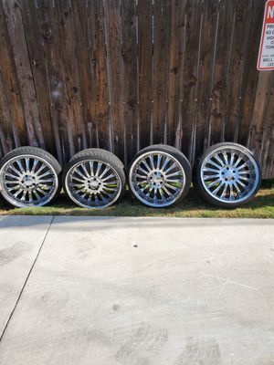 20' CHROME RIMS for trade or sell for Sale in Bell Gardens, CA